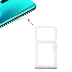 SIM Card Tray + SIM Card Tray / Micro SD Card Tray for Huawei P30 Lite (White)