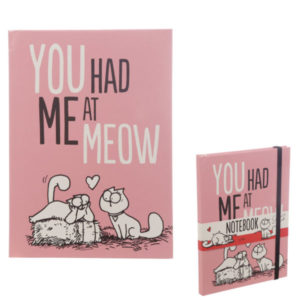 You Had Me At Meow Simon s Cat A5 Hardback Notebook
