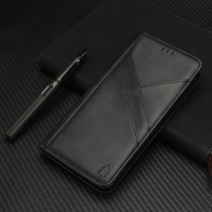Splicing Horizontal Flip PU Leather Case for iPhone X / XS, with Holder & Card Slots & Wallet & Photo Frame(Black)