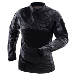 Wearable Long-sleeved Frog Field Suit for Men, Size:XL(Black Python)