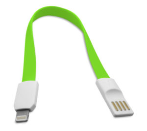 Data cable No brand Lightning - USB , iPhone 5/5s: 6,6S / 6plus,6S plus IPAD4/Mini, 22сm, Flat, With magnet - 14247