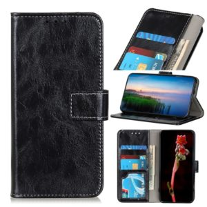 For Xiaomi Redmi Note 8 Pro Retro Crazy Horse Texture Horizontal Flip Leather Case with Holder & Card Slots & Wallet & Photo Frame(Black)