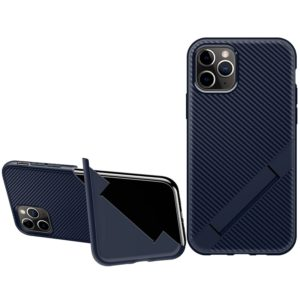 For iPhone 11 Pro Max Extraordinary Series TPU Protective Case Shockproof Strap Folding Bracket(Blue)