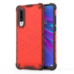 Shockproof Honeycomb PC + TPU Protective Case For Huawei P30 Pro(Red)