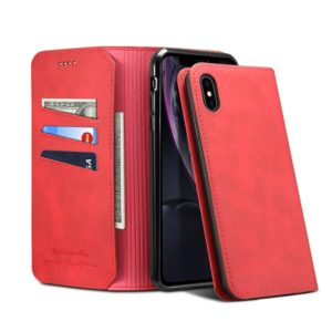 PU + TPU Horizontal Flip Leather Case with Holder & Card Slots & Wallet for iPhone XR(Red)