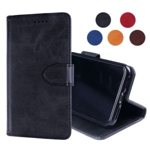 Calf Texture Horizontal Flip Leather Case for Alcatel 1S(2019), with Holder & Card Slots & Wallet(Black)