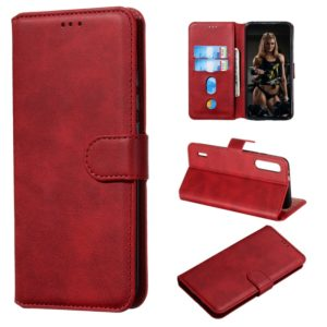 For Xiaomi Mi CC9e / Mi A3 Classic Calf Texture Horizontal Flip PU Leather Case, with Holder & Card Slots & Wallet(Red)