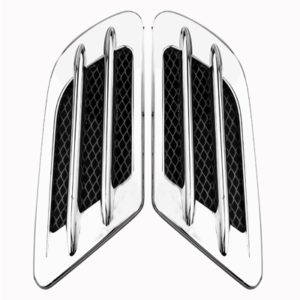 Car Decoration Stickers, Pair(Silver)