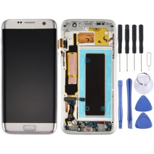 Original LCD Screen and Digitizer Full Assembly with Frame & Charging Port Board & Volume Button & Power Button for Galaxy S7 Edge / G935A(Silver)