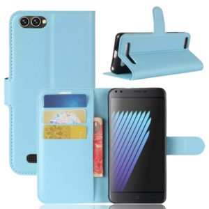 For DOOGEE X30 / X30L Litchi Texture Horizontal Flip Leather Case with Holder & Card Slots & Wallet (Blue)