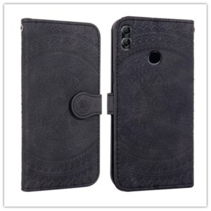 For Huawei P30 Pro Pressed Printing Pattern Horizontal Flip PU Leather Case with Holder & Card Slots & Wallet & & Lanyard(Black)