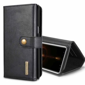 DG.MING for Galaxy Note 8 Triple Fold Crazy Horse Texture Horizontal Flip Magnetic Protective Case with Holder & Card Slots & Wallet(Black) (DG.MING)