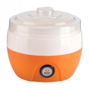 Electric Automatic Yogurt Maker Machine Yoghurt DIY Tool Kithchen Plastic Container 220V Capacity: 1L(Orange) (others)