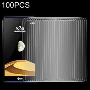 100 PCS 9H 2.5D Tempered Glass Film for LG X max