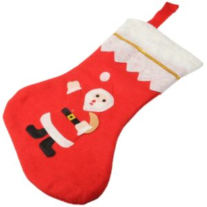Christmas Gifts Santa Claus Pattern Christmas Sock(Red)