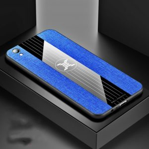 For OPPO R9 XINLI Stitching Cloth Textue Shockproof TPU Protective Case(Blue) (XINLI)