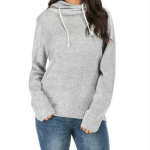 Casual Long-sleeved Hooded Sweater, Size:XL(Gray)