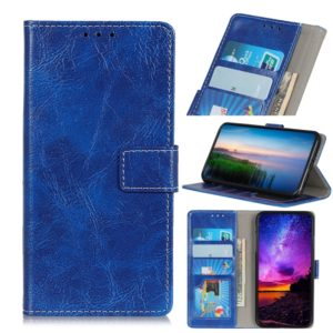 Retro Crazy Horse Texture Horizontal Flip Leather Case for iPhone 11 Pro Max, with Holder & Card Slots & Photo Frame & Wallet (Blue)