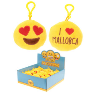 Plush Emotive Mallorca Sound Keyring with Plastic Loop