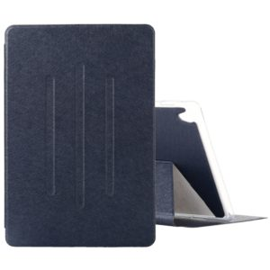 Silk Texture Horizontal Flip Leather Case with Three-Folding Holder for Huawei M6 10.7(Blue)