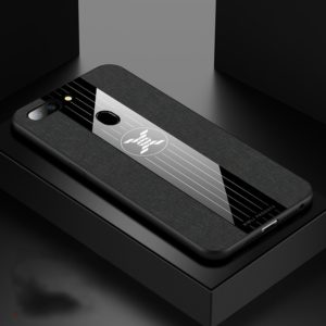 For OPPO R15 Dream Mirror Edition XINLI Stitching Cloth Textue Shockproof TPU Protective Case(Black) (XINLI)