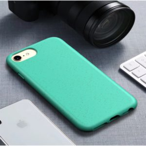 For iPhone6 & 6s Starry Series Shockproof Straw Material + TPU Protective Case(Green)