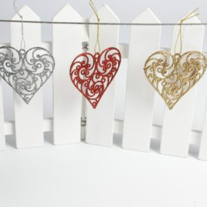 3 PCS Christmas Decorations Creative Christmas Tree Pendant Christmas Party Decoration Heart