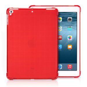 Transparent TPU Full Edge Thicken Corners Shockproof Soft Protective Case for iPad 9.7 (2018) / 9.7 (2017) / air / air2 (Red)