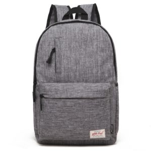 Universal Multi-Function Canvas Laptop Computer Shoulders Bag Leisurely Backpack Students Bag, Small Size: 37x26x12cm, For 13.3 inch and Below Macbook, Samsung, Lenovo, Sony, DELL Alienware, CHUWI, ASUS, HP(Grey)