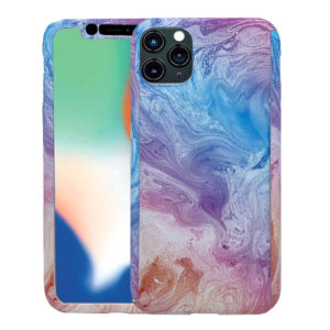 OEM 360 Full Cover Marble Case & TEMPERED Glass For IPHONE 11 MC6 Blue/Pink (46-61144)
