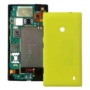 Plastic Back Housing Cover for Nokia Lumia 520(Yellow)