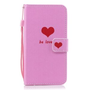 Heart Pattern Horizontal Flip Leather Case for LG V40 ThinQ, with Holder & Card Slots & Wallet
