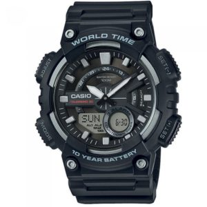 Ρολόι Casio Men s Collection Standard Black Rubber Strap - AEQ-110W-1AVEF AEQ-110W-1AVEF