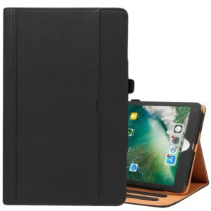 For iPad 9.7 (2018) & iPad 9.7 inch (2017) & iPad Air 2 & iPad Air Cowhide Pattern PC Protective Case(Black)