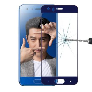 For Huawei Honor 9 0.26mm 9H Surface Hardness 2.5D Explosion-proof Silk-screen Tempered Glass Full Screen Film(Blue)