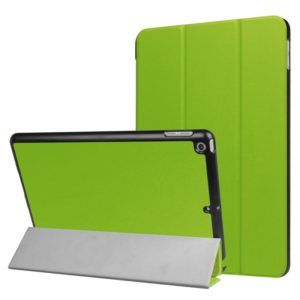 For iPad 9.7 (2018) & iPad 9.7 (2017) Custer Texture Horizontal Flip Leather Case with Three-folding Holder & Sleep / Wake-up Function(Green)