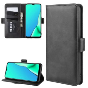 For OPPO A9 (2020) Dual-side Magnetic Buckle Horizontal Flip Leather Case with Holder & Card Slots & Wallet & Photo Frame(Black)