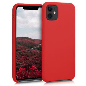 KW Θήκη Σιλικόνης Apple iPhone 11 - Soft Flexible Rubber Protective Cover - Red (49724.09)