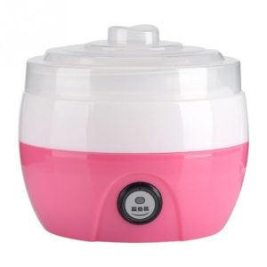 Electric Automatic Yogurt Maker Machine Yoghurt DIY Tool Kithchen Plastic Container 220V Capacity: 1L(Pink) (others)