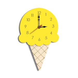 Ice Cream Styling Decorative Wall Clock (Yellow)
