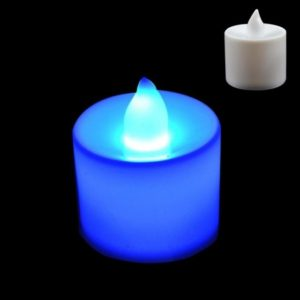LED Tea Candle Lamps Christmas Multicolor Simulation Color Flame Flashing Lights Home Wedding Birthday Party Deco Holiday Lights Blue