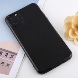 For iPhone 11 Pro Max Candy Color Plastic Protective Case(Black)