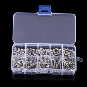 340 PCS DIN912 Hex Socket Screws Bolts Nut M3 Stainless Steel Cap Head Screw Set
