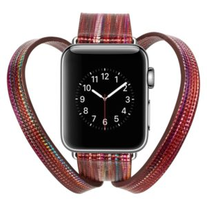 Colourful Sheep Leather Crown Watchband for Apple Watch Series 3 & 2 & 1 38mm