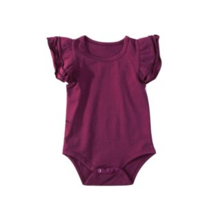 Summer Baby Cotton Ruffled Short-sleeved Round Neck Triangle Romper, Size:80cm(Red)