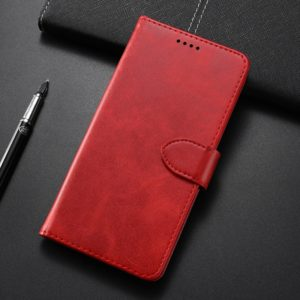 Calf Texture Horizontal Flip Leather Case for Samsung Galaxy A8S/A9 Pro 2019, with Holder & Card Slots & Wallet(Red)
