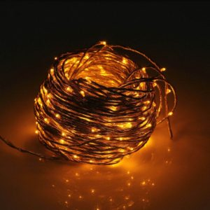 40m Water Resistant Copper Wire Branch String Light, 24V 400 LEDs Fairy Timbo Lights with Controller Lines for Party / Christmas decoration