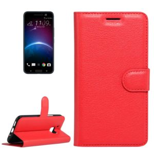For HTC 10 Litchi Texture Horizontal Flip Leather Case with Holder & Card Slots & Wallet(Red)