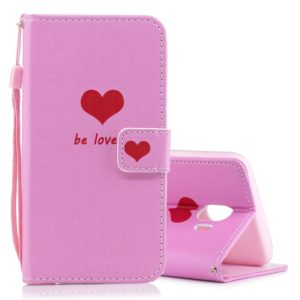 Heart Pattern Horizontal Flip Leather Case for Galaxy J4 (2018), with Holder & Card Slots & Wallet