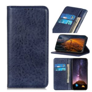 For Motorola G8 Plus Magnetic Retro Crazy Horse Texture Horizontal Flip Leather Case with Holder & Card Slots(Blue)